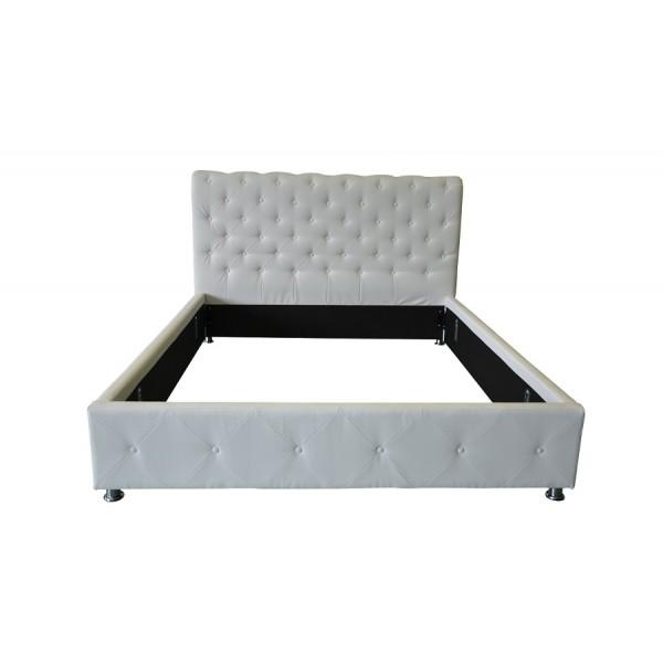 Oblazinjena postelja ANJA - bela