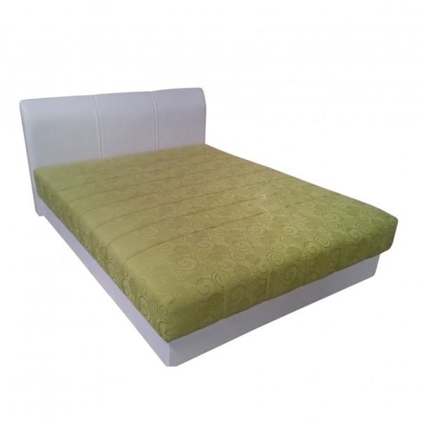 Postelja Rondo 160x200 - bela / zelena