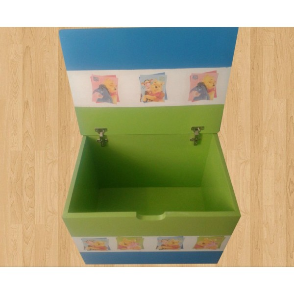 Zaboj za igrače Medvedek Pu (zelena-modra)