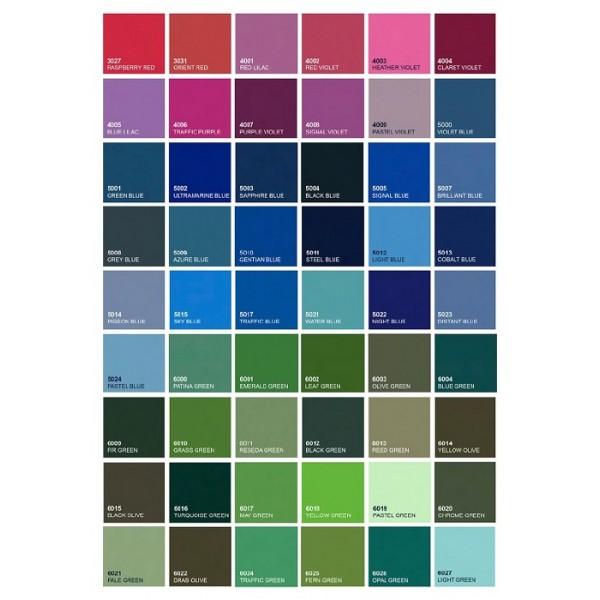 Kovinska postelja VIDA M8 - Barve: RAL lestvica