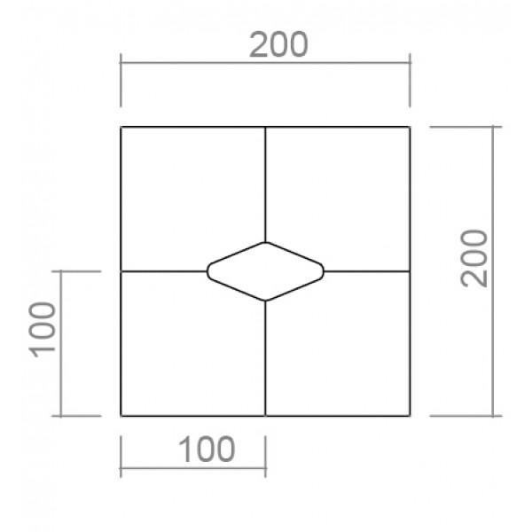 Sejna miza TK04 - dimenzije