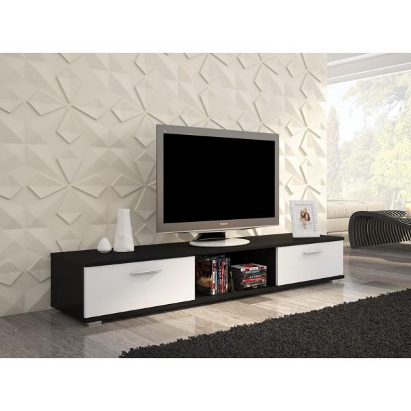 TV regal SELLA (črna/bela)