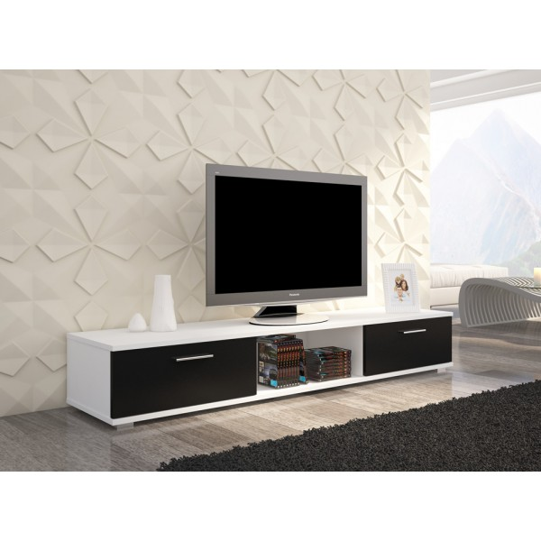 TV regal SELLA (bela/črna)