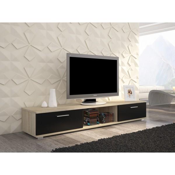 TV regal SELLA (sonoma/črna)