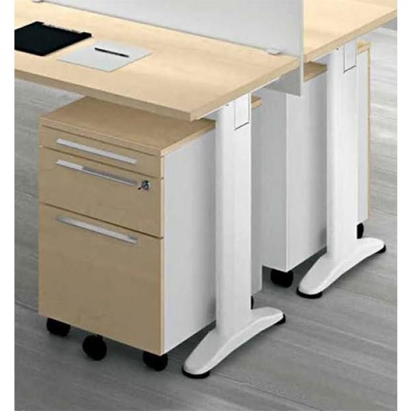 Set pisarniških miz s pregradami in predalniki TK07-3