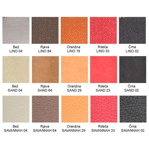 Izbor barv in materialov