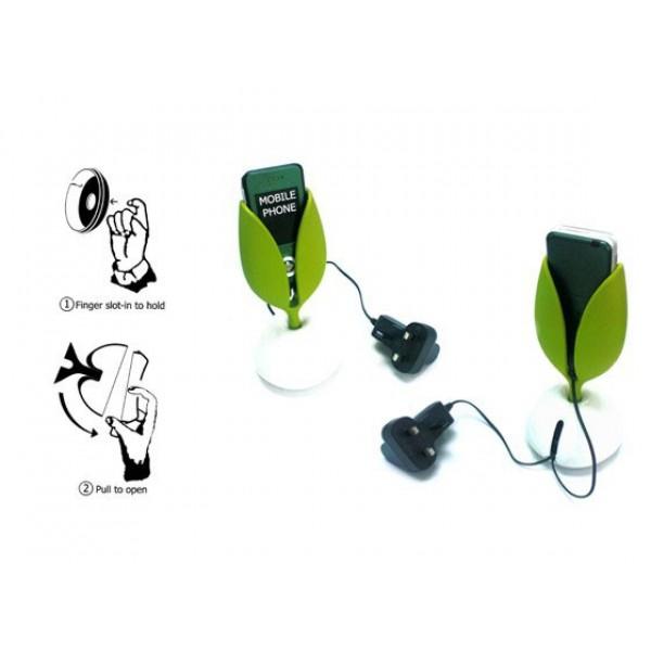 Stojalo za mobitel Leaf (črna)