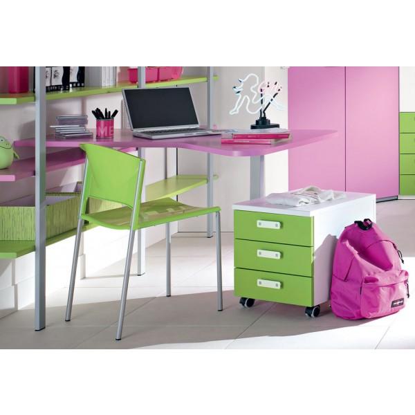 Pisalna miza Dardo, Stol Alfa in predalnik za pisalno mizo