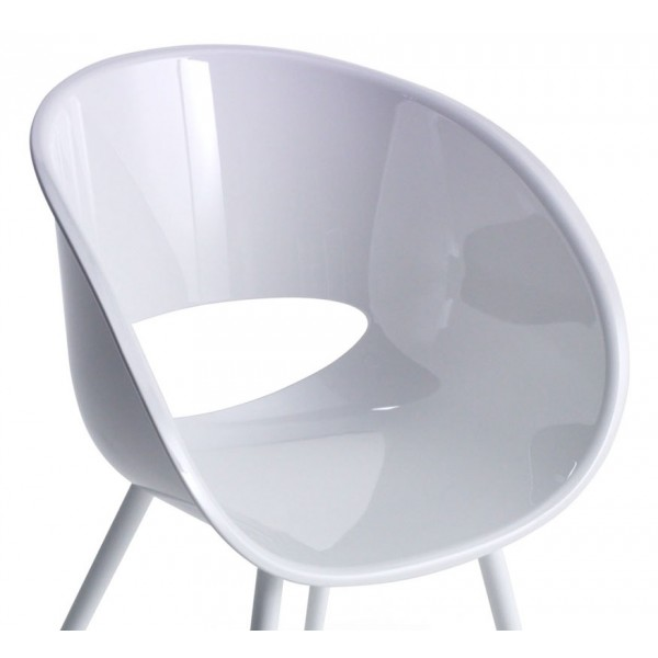 Stol naslonjač Eye Space bela barva zoom
