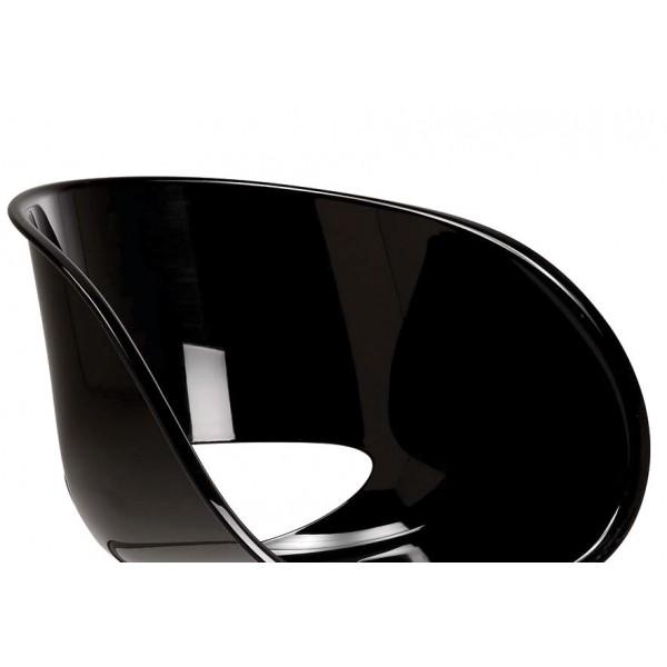 Stol naslonjač Eye Space črn