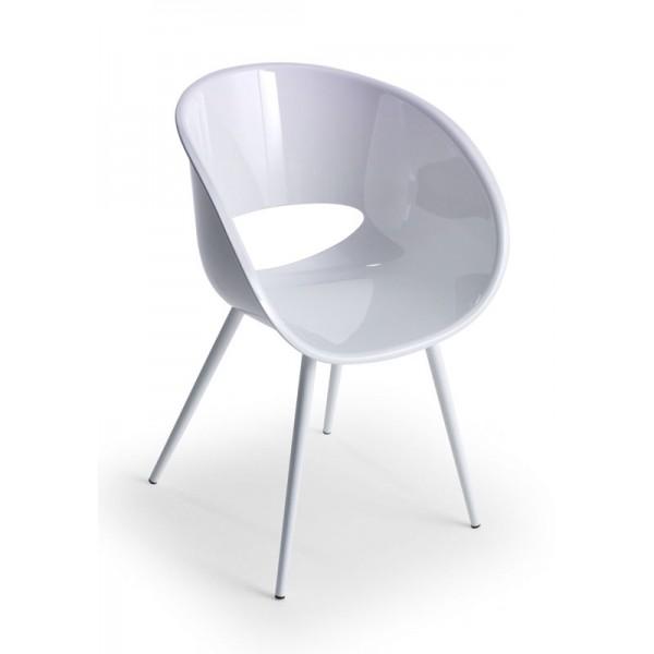 Stol naslonjač Eye Space bela barva