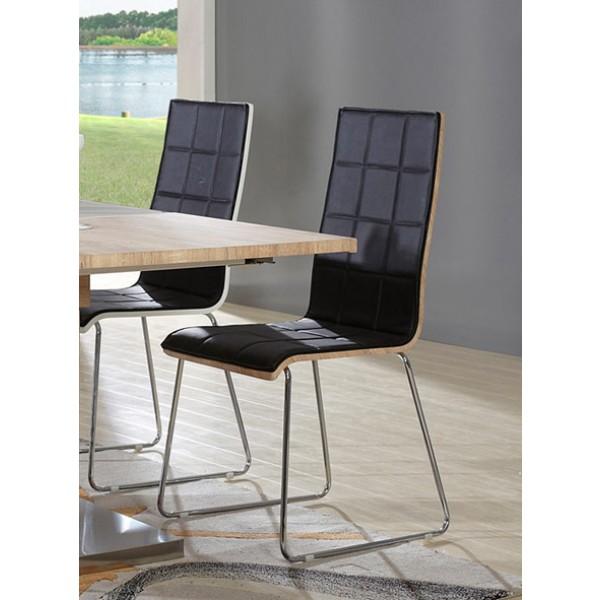 Stol za jedilnico Infinity (dve barvi)-Črna