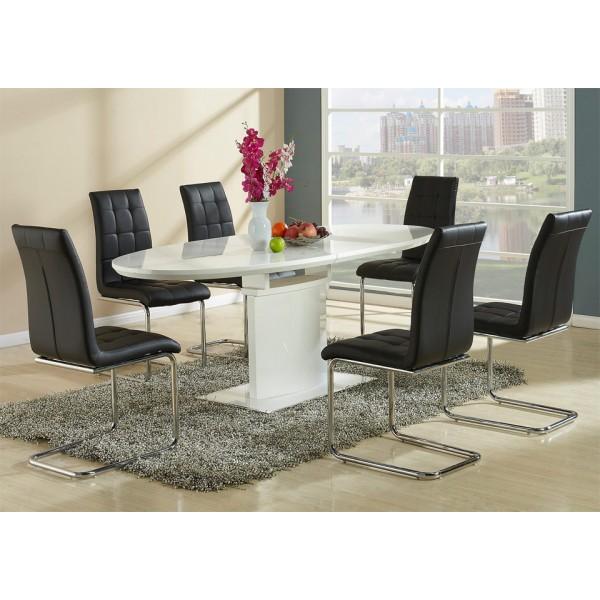 Stol za jedilnico Kaity črne barve z mizo Fedorico