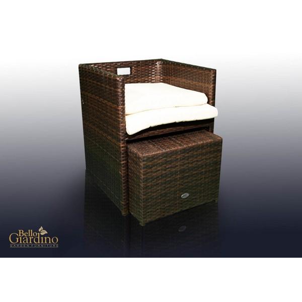 Vrna garnitura Delizioso - stol in tabure