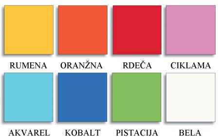 Otroška postelja Basso s predaloma: barve